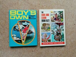 BOY'S OWN ANNUAL + THE LOOK AND LEARN BOOK 1972