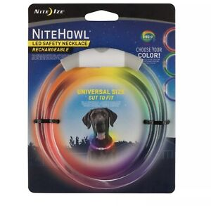 *NEW* Nite Ize NiteHowl LED Safety Necklace Rechargeable Collar *FREE SHIPPING*