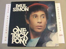 PAUL SIMON ONE TRICK PONY LP HS 3472 w LYRIC SLEEVE late in the evening