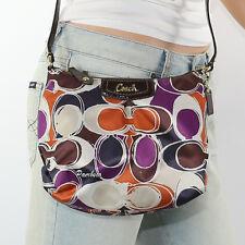 NEW Coach Ashley Hand Drawn Scarf Print Swingpack Crossbody Bag F48055 RARE