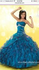 blue and purple quinceanera dress