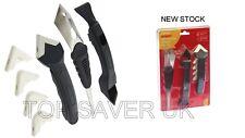 3Pc Silikon Metall & Kunststoff Spachtel Set Fugenmasse Finishing Reinigung Werkzeug AMTECH