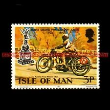 RANDLES Leslie MANX GRAND PRIX Isle of MAN 1923 Timbre Poste Moto Stamp Stempel
