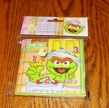 SESAME STREET Let's Count Soft Stain Resistant BOOK Infants Toddlers Bath Time
