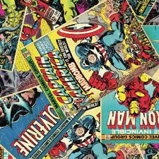 Marvel Avengers Comic HULK THOR IRON MAN 100% Coton Tissu Fat Quarter