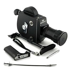 Krasnogorsk 3 ⭐ 16mm Movie Camera ⭐ METEOR 5-1 1,9/17-69mm ⭐ M42 Lens