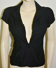 New - Valley Girl Black Blouse Top Jacket - Size: 8