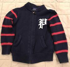 Ralph Lauren Navy Knit Zip Up Sweater - Size 3T