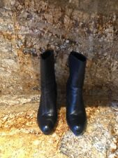 Circa Joan & David CJMASEY Black Leather Heels Boots Side Zip Womens size 9M