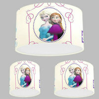 Handmade Lampshade with Disney Frozen Ana Elsa Wallpaper Pink Purple Lamp Shade