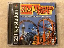 Sim Theme Park ( Sony Playstation 1 ), PS1, Complete w/Case & Manual