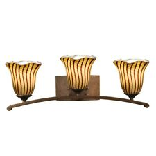Dale Tiffany 3-Light Valley Vanity Lights, Antique Golden Bronze - AW14177