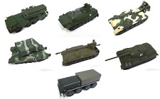 LOT DE 7 CHARS MILITAIRES RUSSES URSS 1/72 Uragan WW2 TANK MILITARY VEHICULE