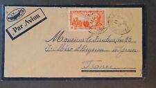 Kambodscha Brief mit dem Flugzeug 1939 Phnom Penh für die Frankreich