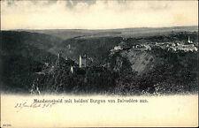 ~1900 Gruss aus MANDERSCHEID Burg Fernblick vom Belvedère aus gesehen alte AK