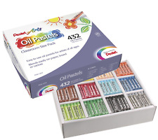 Pentel Arts Oil Pastels, 432 Piece Classroom Size Pack Phn-12Cp