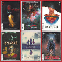 DCEASED #1 2 3 4 5 6 VARIANT SET Batman Superman Joker Harley DC 2019 NM- NM