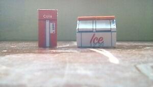 1/48 O scale original designed cola machine and ice machine for train layouts.
