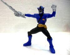 "POWER RANGERS SAMURAI ""BLUE ranger"" plastica cm. 8,7 + spada BANDAI 2010 SCG"