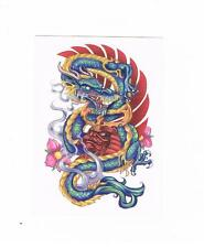1 x Beautiful Chinese dragon Temporary Tattoo - Suits Kids or Adults