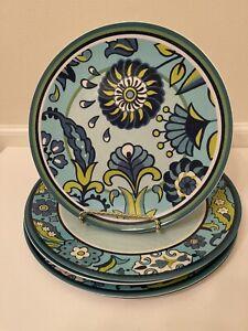 Certified International Jennifer Brinley Capri Blue Melamine Plates Set of 8