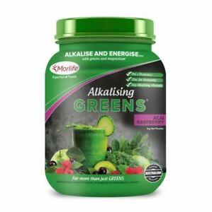 Morlife Alkalizing Greens 1kg - Acai Raspberry - Lemon Lime