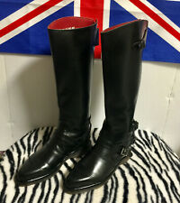 Rare!-Nib-Mens Vintage Dr Martens Blk Leather Motorcycle Storm Trooper Boots-8 M