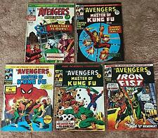 5 x 1974 The Avengers Marvel Comics Group No's 17, 39, 47, 49. & 55