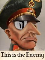 """1940s """"This is the Enemy"""" WWII Historic Propaganda War Poster - 24x32"""