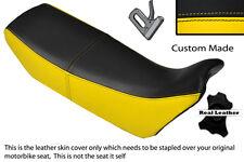 Noir & jaune s' adapte sur mesure HONDA NX 650 DOMINATOR 89-91 double housse siège en cuir