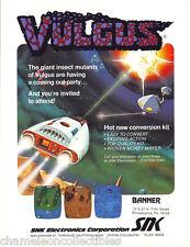 VULGUS By SNK 1984 ORIGINAL NOS VIDEO ARCADE GAME MACHINE PROMO SALES FLYER