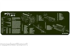 "TekMat 36"" Gun Cleaning Mat Parts Diagram For AR-15 M-16 M4 Rifle GREEN"
