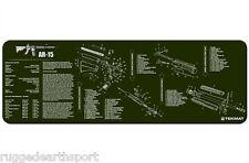 "AR-15 M-16 M4 Rifle GREEN TekMat 36"" Gun Cleaning Mat Parts Diagram 36-AR15-OD"