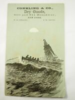 Conkling & Co.,Dry Goods 809 & 811 Broadway New York Victorian Trade Card 1880's