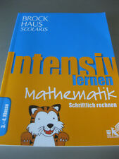 BROCKHAUS scolaris intensive learning mathematics in writing expect 3. - 4. Class