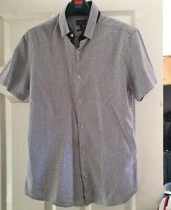 New Next Medium Check Shirt Size Medium