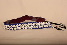 "Colourful BLUE Beaded Cowrie Shell Belt 27.5 ""+12""ties. Summer Fashion /Festival"
