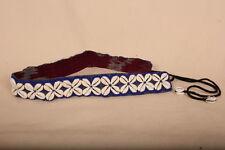 "Azul Colorido Con Cuentas COWRIE SHELL Cinturón de 27.5"" +12"" lazos. Festival de Verano de Moda/"