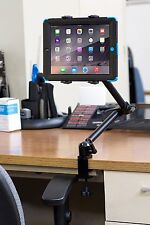 Desk Tablet Clamp Mount 8.9 To 18.4in iPad Gadget Holder Office Table Wheelchair