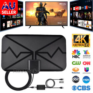 TV Antenna Digital Skywire 4K with TV Aerial Amplifier Indoor HDTV 50 Mile Range
