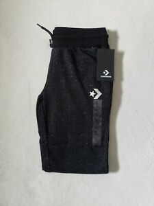 New! Converse Joggers, Girls Joggers, Large, Youth Large sweats, black/silver
