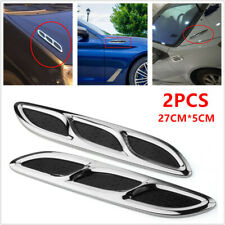 2PCS Universal Car SUV Shark Style Hood Vent Side Vent Louver Cooling Panel ABS