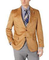 Nautica Mens Suit Separates Beige Size 44 Faux Suede Notch Collar $295 #059