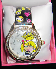 BETSEY JOHNSON BETSEY BLOWING A BUBBLE WITH PICS ON BAND WATCH