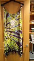 ladies multicoloured beach dress size. medium.