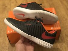 NIKE LUNARGATO II BLACK RED INDOOR COURT FUTSAL FOOTBALL UK9 EUR44 US10 LEGEND