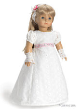 """Doll Clothes 18"""" Dress Regency White Carpatina Fit  American Girl Dolls"""