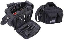 """Black 16"""" Tactical 'Specialist' Shooting Range & Go 9-Pocket Shoulder Bag"""