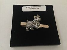 D1   Westie   English Pewter emblem on a Tie Clip (slide)