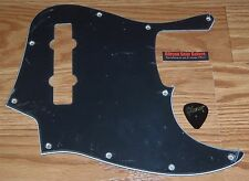 Squier Jazz Bass Pickguard Vin Modified 77 Black 3 Ply Guitar Parts Pick Project